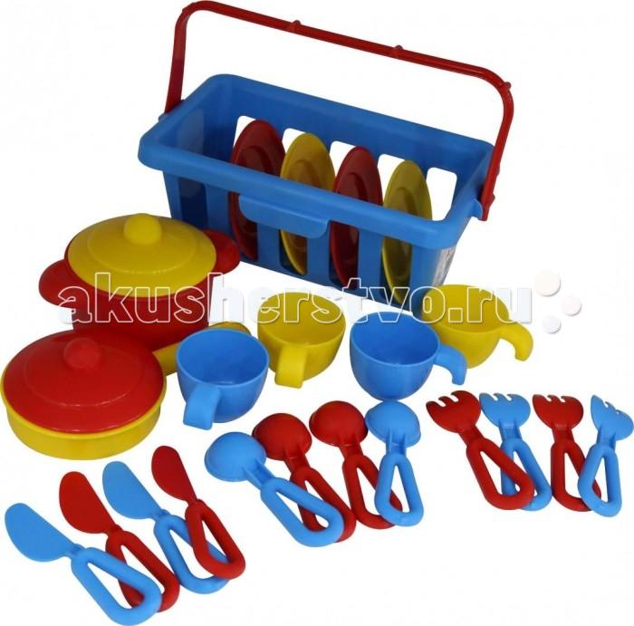 Ролевые игры Полесье Набор детской посуды TOP chef с корзинкой № 2 rosenberg набор детской посуды 8786