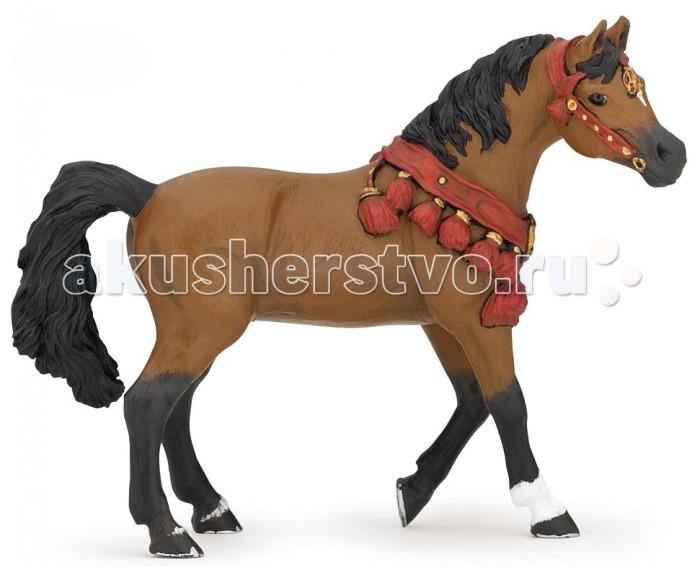 Фото - Игровые фигурки Papo Игровая реалистичная фигурка Арабская лошадь в парадной упряжке игровые фигурки veld co лошадь с аксессуарами в коробке 39954