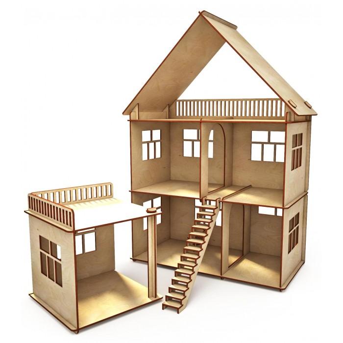 Кукольные домики и мебель ХэппиДом Коттедж с пристройкой