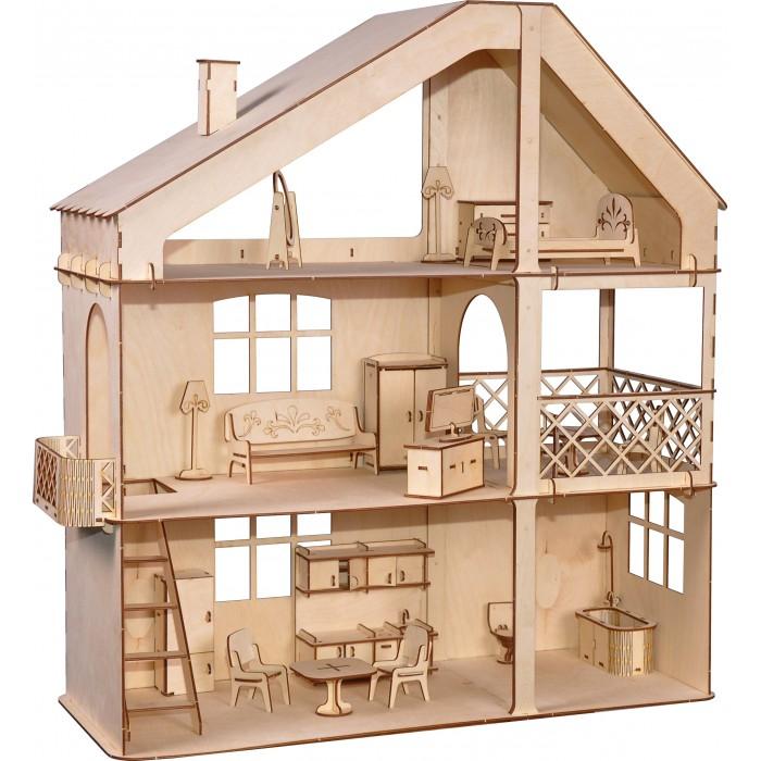 Кукольные домики и мебель ХэппиДом Гранд коттедж с верандой и мебелью
