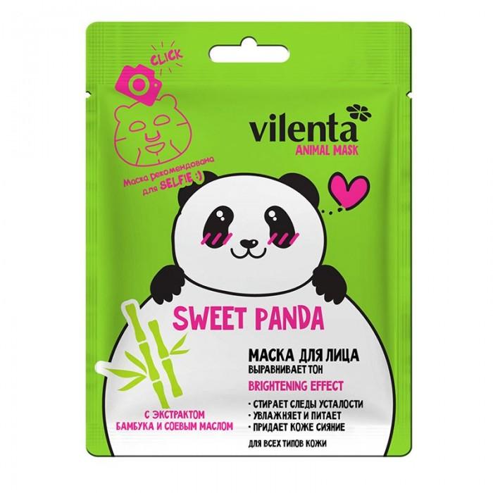 Косметика для мамы Vilenta Маска лица Animal Panda выравнивающая 28 мл