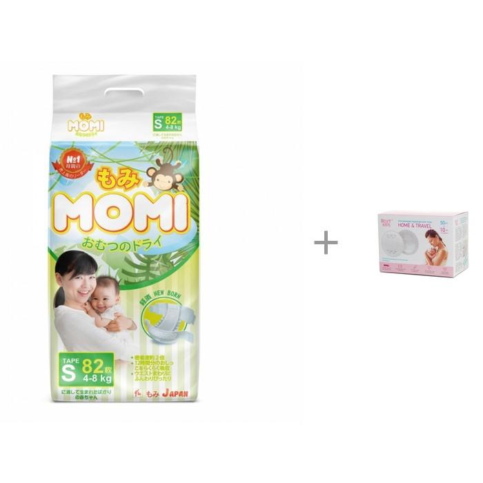 Momi Подгузники S (4-8 кг) 82 шт. с прокладками для груди ROXY-KIDS