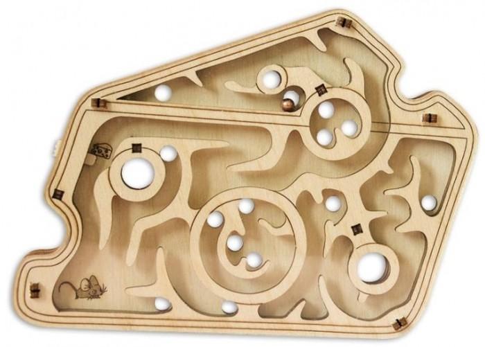 Купить Деревянные игрушки, Деревянная игрушка Uniwood Головоломка лабиринт Мышка в сыре