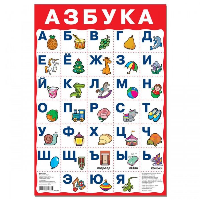 Обучающие плакаты Дрофа Плакат Азбука №2 азбука для православных детей