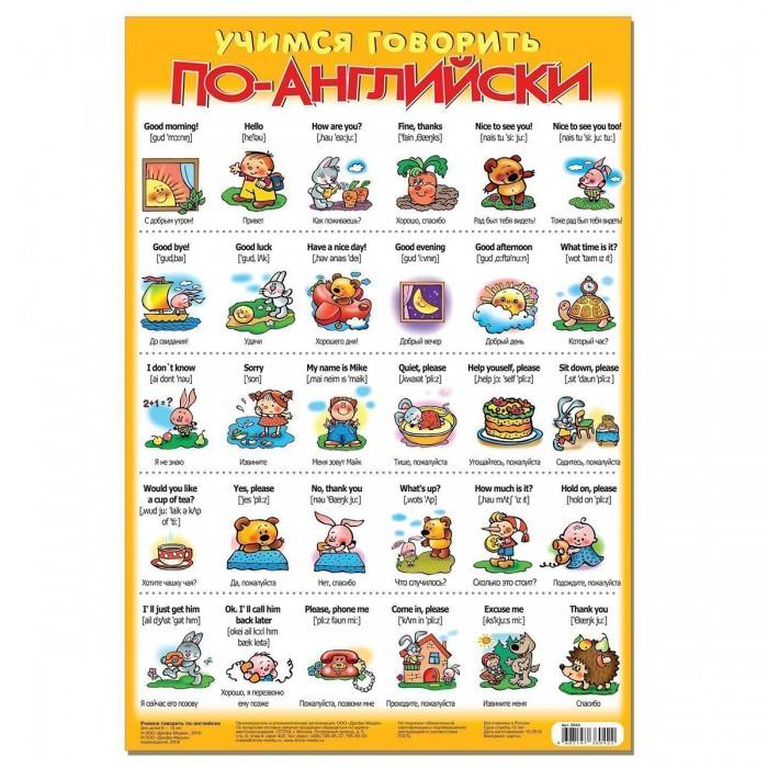 Обучающие плакаты Дрофа Плакат Учимся говорить по-английски