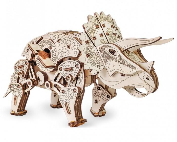 Купить Конструкторы, Конструктор Eco Wood Art 3D EWA Динозавр Трицератопс