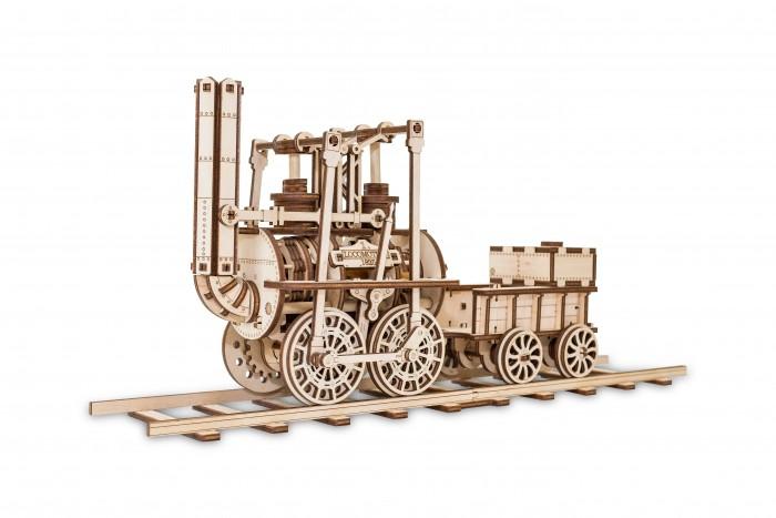 Купить Конструкторы, Конструктор Eco Wood Art 3D EWA Локомотив