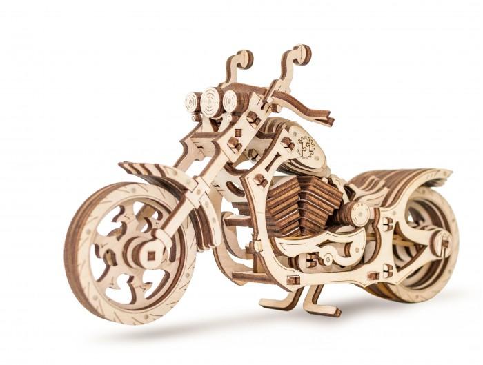 Купить Конструкторы, Конструктор Eco Wood Art 3D EWA Мотоцикл Cruiser