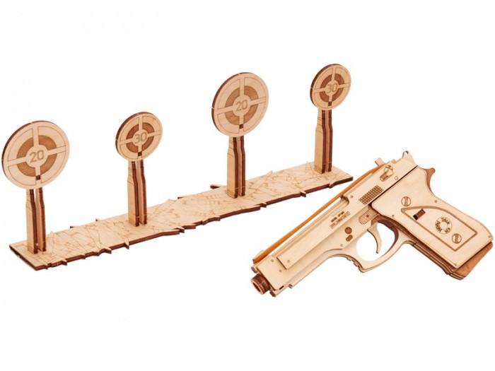 Wood Trick 3D-пазл Пистолет-резинкострел с мишенями