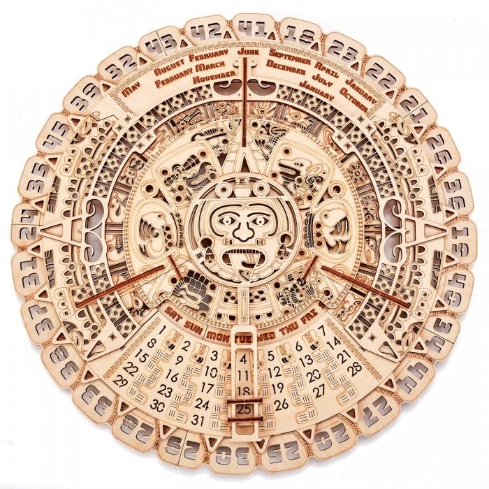 Купить Сборные модели, Wood Trick Механическая сборная модель Календарь Майя