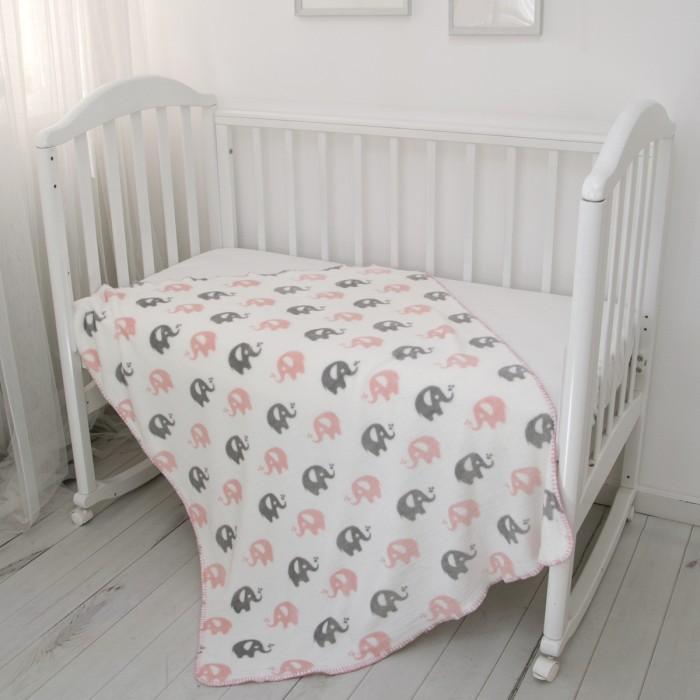 Пледы Baby Nice (ОТК) покрывало Ultrasoft Слоники 100х140 см