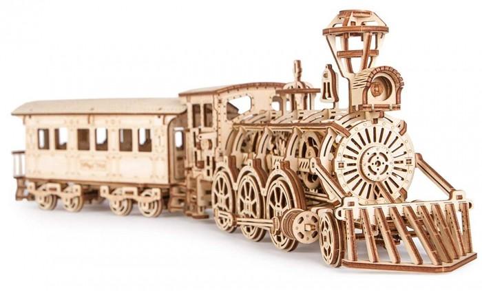 Купить Сборные модели, Wood Trick Механическая сборная модель Локомотив R17 с рельсами