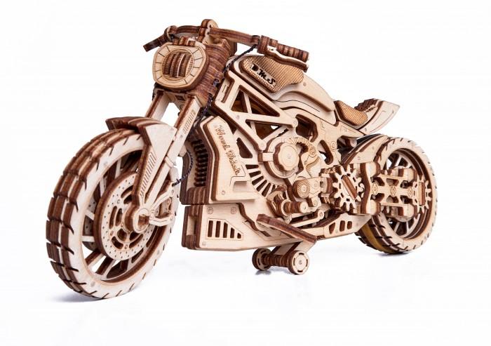 Купить Сборные модели, Wood Trick Механическая сборная модель Мотоцикл DMS