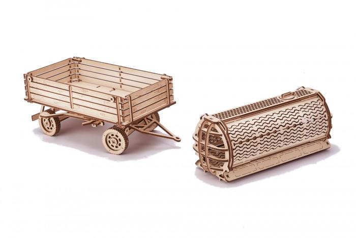 Купить Сборные модели, Wood Trick Механическая сборная модель Прицепы для трактора