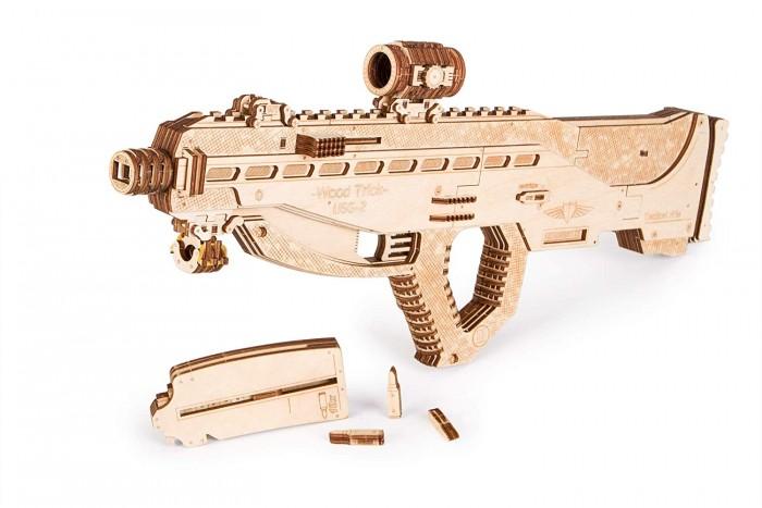 Купить Сборные модели, Wood Trick Механическая сборная модель Штурмовая винтовка USG-2