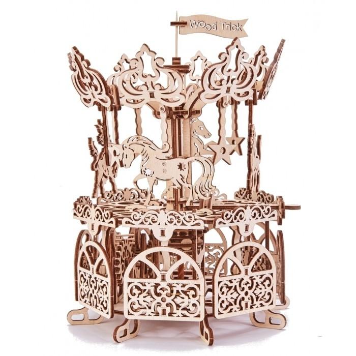Купить Пазлы, Wood Trick Механический 3D-пазл Карусель