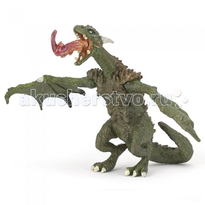 Игровые фигурки Papo Игровая реалистичная фигурка Дракон с подвижными крыльями игровые фигурки papo игровая реалистичная фигурка цератозавр