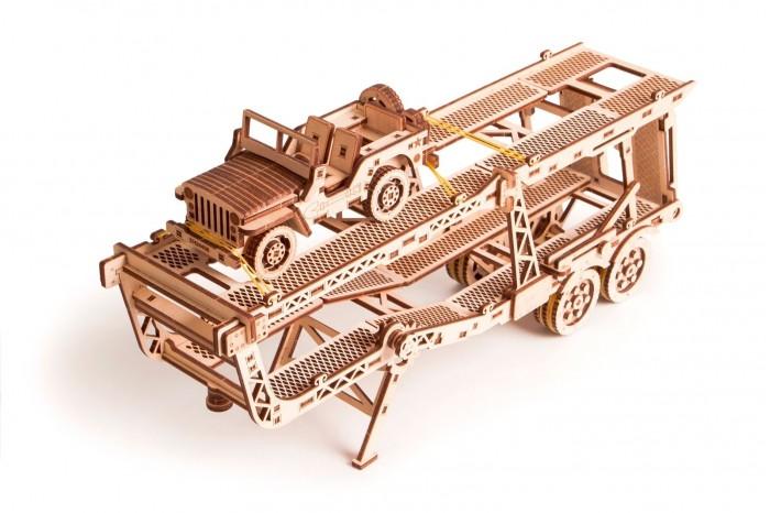 Wood Trick Механический 3D-пазл Прицеп Автовоз фото