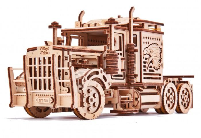 Купить Пазлы, Wood Trick Механический 3D-пазл Тягач Биг Риг