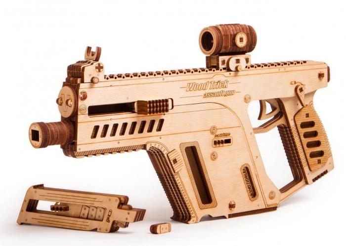 Купить Пазлы, Wood Trick Механический 3D-пазл Штурмовая винтовка