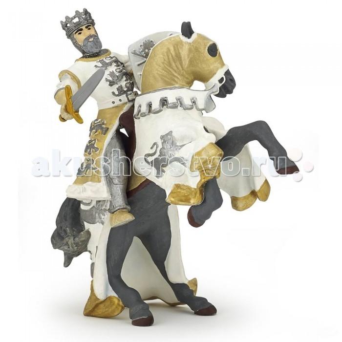 Фото Игровые фигурки Papo Игровая реалистичная фигурка Конь короля Ричарда белый