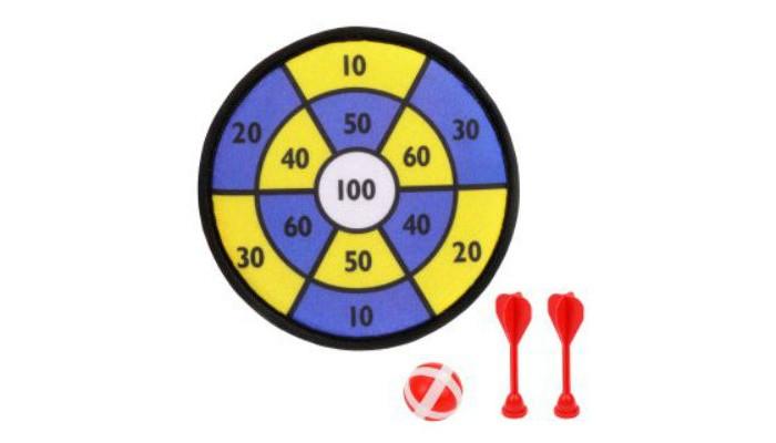 Спортивный инвентарь Наша Игрушка Дартс 19.5 см и дротики на липучке 2 шт. спортивная игра наша игрушка дартс bb1701