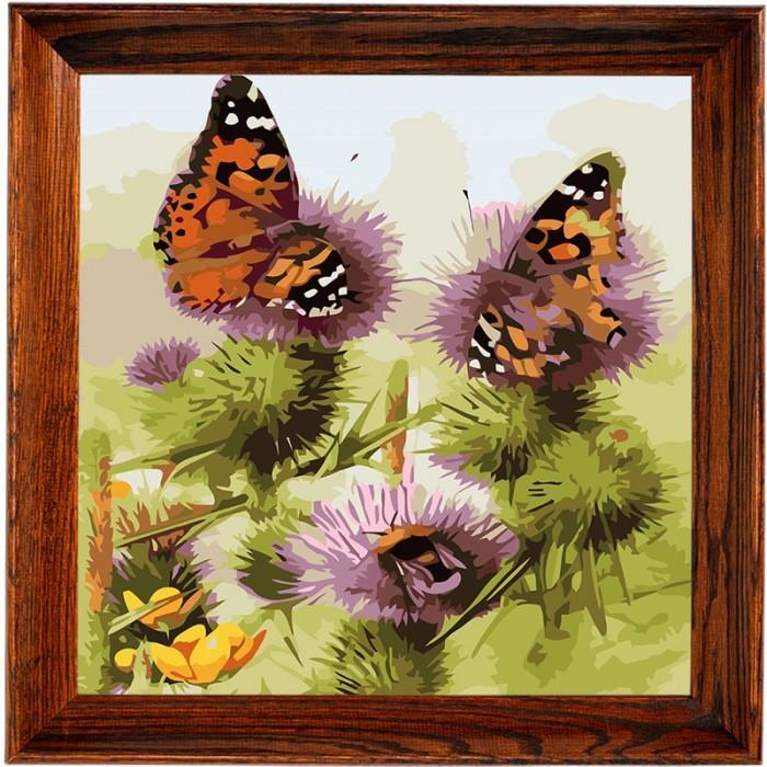открытки по номерам с декором сказочный единорог открытки по номерам с декором bc001 Картины по номерам Color Kit Открытка по номерам Бабочки и шмели