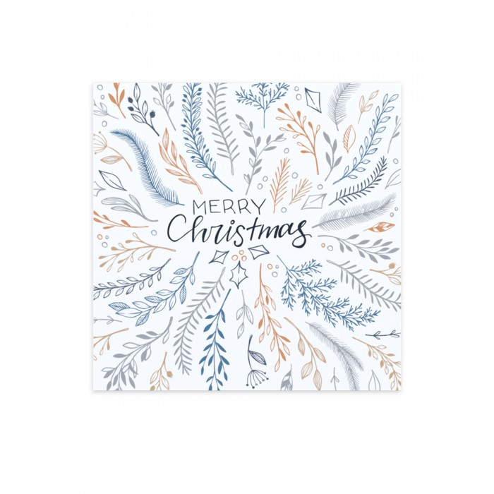 Continent Decor Картина Merry Christmas white