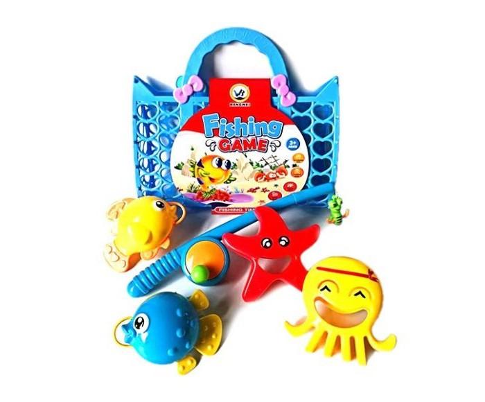 Игрушки для ванны Наша Игрушка Набор Рыбалка: 4 фигурки и удочка интерактивная игрушка наша игрушка рыбалка с крючком удочка от 3 лет bw30035 2