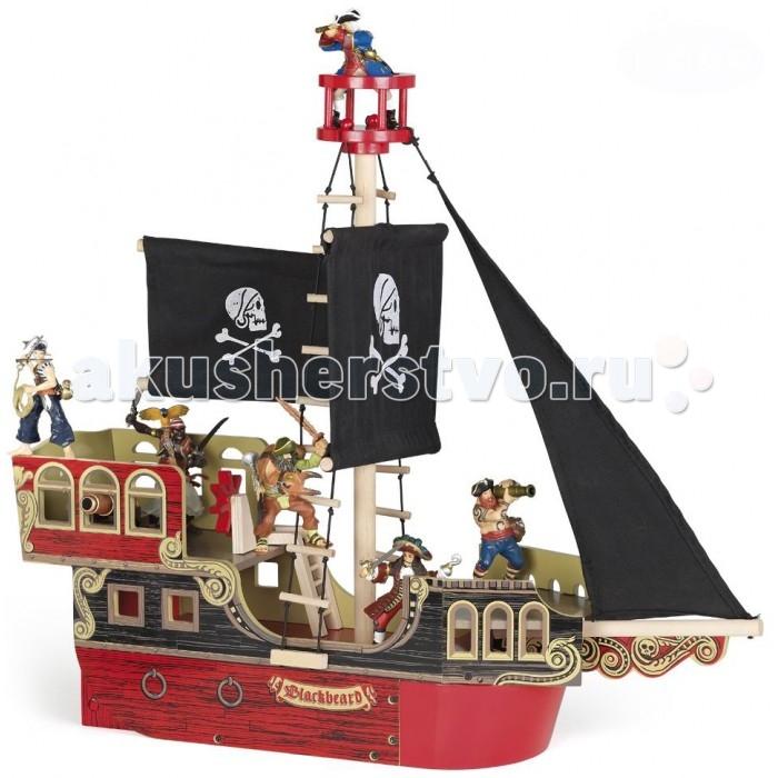 Papo Пиратский корабльПиратский корабльPapo Пиратский корабль  Особенности: Ручная роспись.  Все фигурки Papo проходят тщательную подготовку и обработку, поэтому они крепкие и долговечные. Материал: высококачественный полимерный материал, дерево.  Размеры: 14.5х51х55 см  Включает в себя: 3 этажа, мачта, 2 лестницы. Фигурки в набор не входят!  Игра с пиратским кораблем способствует развитию воображения, творческих способностей, логического мышления, координации и мелкой моторики рук.<br>