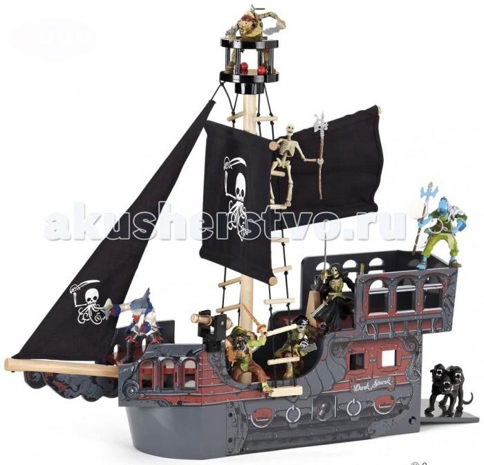 Papo Корабль ФэнтазиКорабль ФэнтазиPapo Корабль Фэнтази  Особенности: Ручная роспись.  Все фигурки Papo проходят тщательную подготовку и обработку, поэтому они крепкие и долговечные. Материал: высококачественный полимерный материал, дерево.  Размеры: 14.5х51х55 см  Включает в себя: 3 этажа, мачта, 2 лестницы. Фигурки в набор не входят!  Игра с пиратским кораблем способствует развитию воображения, творческих способностей, логического мышления, координации и мелкой моторики рук.<br>