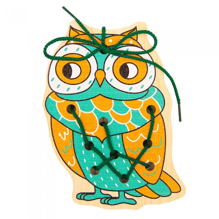 Картинка для Деревянные игрушки Alatoys Шнуровка Сова