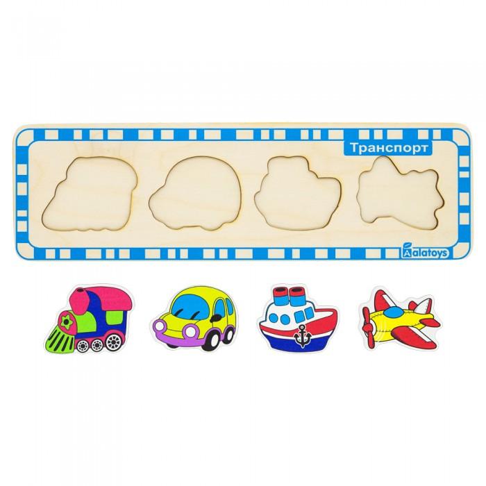 Картинка для Деревянные игрушки Alatoys Пазл Транспорт