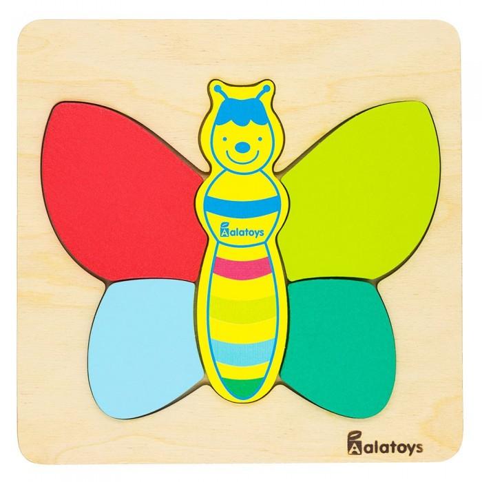 Картинка для Деревянные игрушки Alatoys Пазл Бабочка