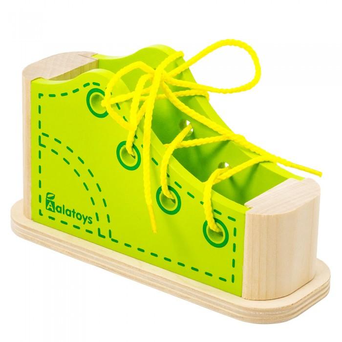 Деревянные игрушки Alatoys Шнуровка Ботинок