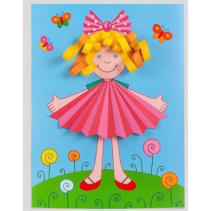 Аппликации для детей Дрофа Объемная аппликация Куколка