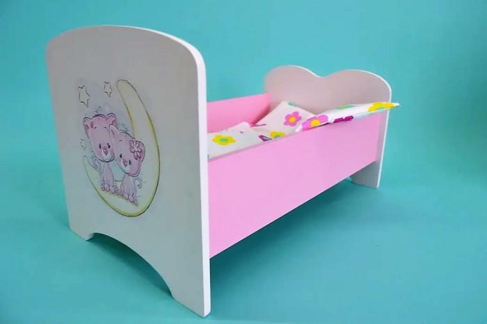 Кроватка для куклы Коняша Котята и месяц