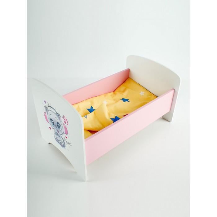 Кроватка для куклы Коняша Котенок в наушниках