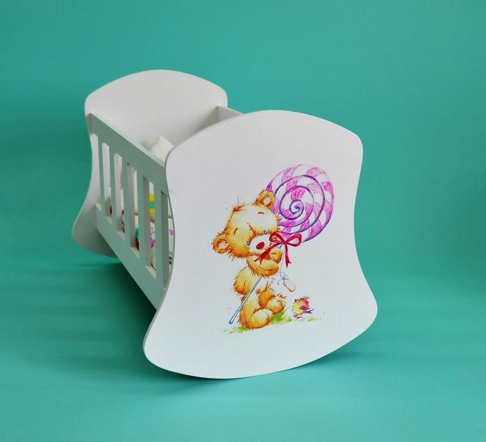 Кроватка для куклы Коняша Люлька Мишка с леденцом