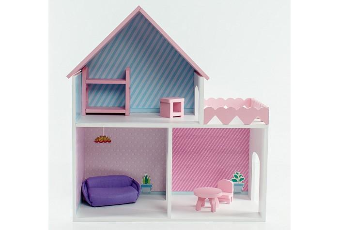 Фото - Кукольные домики и мебель Коняша Дом Пломбир с интерьером и мебелью кукольные домики и мебель коняша набор стол и стулья мишутки романтик
