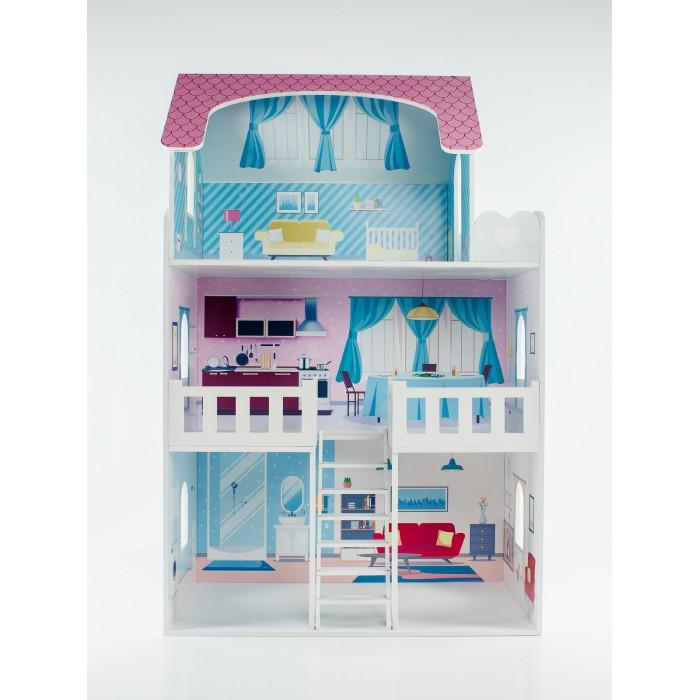 Фото - Кукольные домики и мебель Коняша Дом Пастила с интерьером и мебелью кукольные домики и мебель коняша набор стол и стулья мишутки романтик