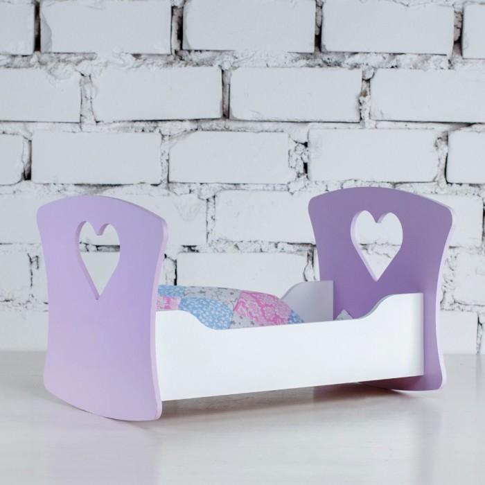 Кроватка для куклы Коняша Люлька Сердце ангела
