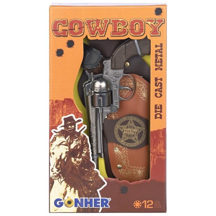 Gonher Игрушка  Набор Ковбой (револьвер+кобура) 149/0Игрушка  Набор Ковбой (револьвер+кобура) 149/0Gonher Набор Ковбой (револьвер+кобура) на 12 пистонов, который сделан известным испанским производителем игрушечного оружия.   Особенности: Модель изготовлена из металла наивысшего качества.  Тщательно продуманная конструкция пистолета обеспечит максимальную безопасность ребенка во время игры.  Пистоны для оружия приобретаются отдельно.  Оригинальный дизайн и высокая реалистичность обязательно понравятся вашему мальчику.<br>