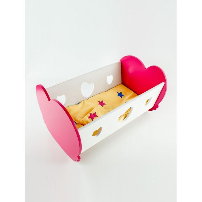 Кроватка для куклы Коняша люлька Валентинка
