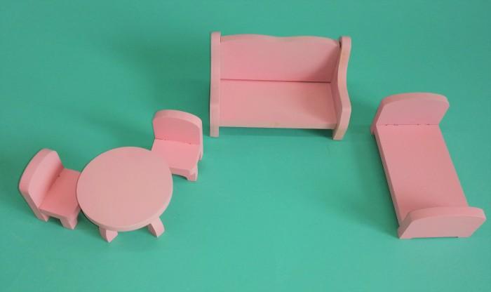 Фото - Кукольные домики и мебель Коняша Набор мебели Мини (5 предметов) комплект садовой мебели бел мебельторг набор мебели сан ремо мини