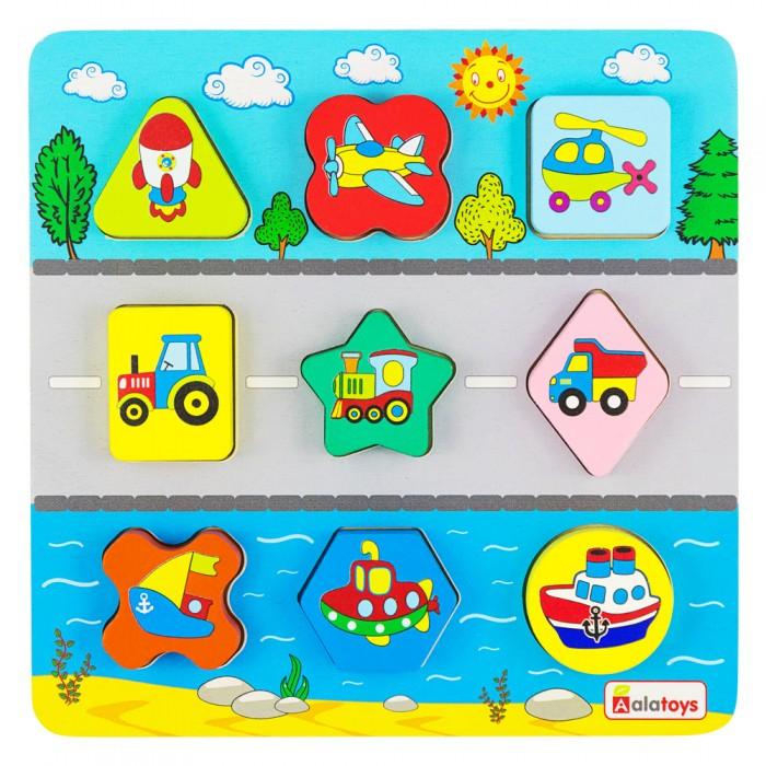 Деревянные игрушки Alatoys Сортер Транспорт (9 деталей)