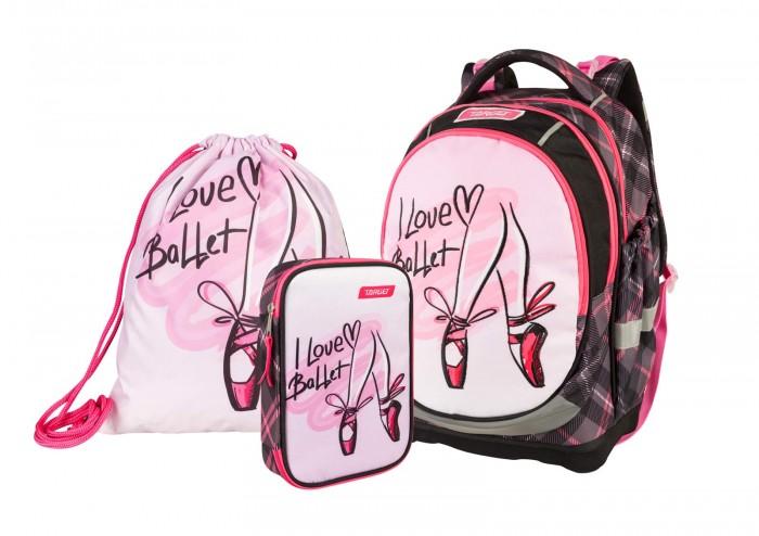 Купить Школьные рюкзаки, Target Collection Рюкзак супер лёгкий I love Ballet 3 в 1
