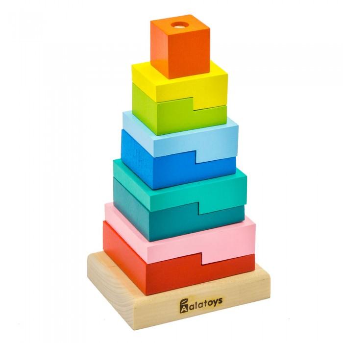 пирамидка alatoys ступеньки 8 деталей Деревянные игрушки Alatoys Пирамидка Ступеньки (9 деталей)