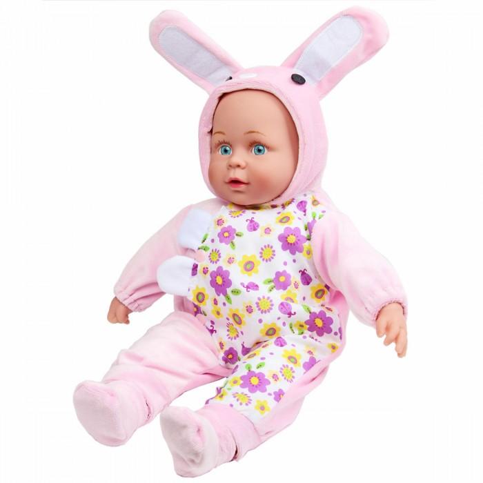 Lisa Doll Кукла интерактивная в розовом комбинезоне зайка 40 см