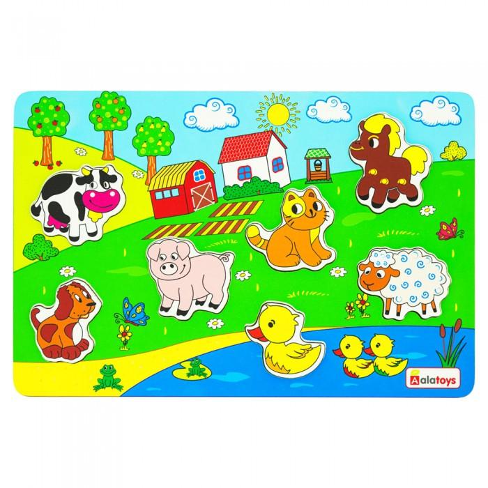 Картинка для Деревянные игрушки Alatoys Пазл Ферма